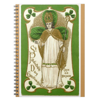 Vintage St Patrick Day's greetings Erin Go Bragh Note Book