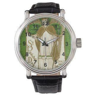 Vintage St Patrick Day's greetings Erin Go Bragh Watch