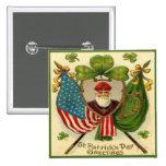 Vintage St Patricks Day 10 2 Inch Square Button