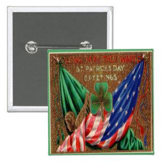 Vintage St Patricks Day 12 2 Inch Square Button