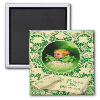 Vintage St Patricks Day 18 Square Magnet