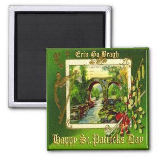 Vintage St Patricks Day 29 Square Magnet