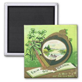 Vintage St Patricks Day 3 Square Magnet