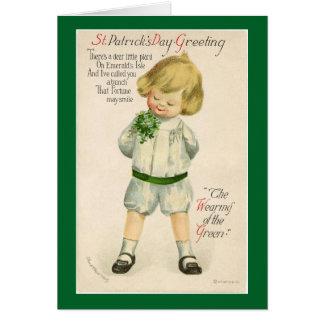 Vintage St. Patrick's Day Child Card