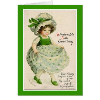 Vintage St. Patrick's Day Dancer Greeting Card