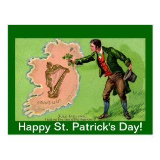 Vintage St. Patrick's Day Erin's Isle Postcard