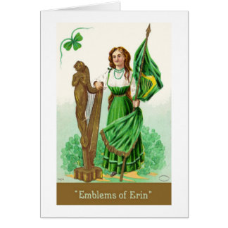 Vintage St. Patricks Day Greeting Note Card