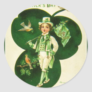Vintage St Patrick's Greeting Stickers