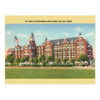 Vintage St. Paul's Sanitarium Dallas Postcard