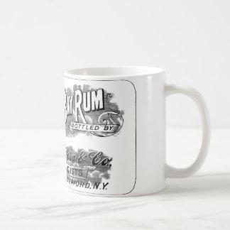 Vintage St. Thomas Bay Rum Advertising Logo Label Coffee Mug