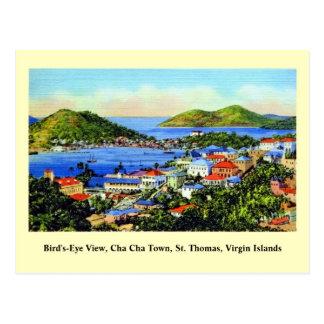 Vintage St. Thomas Virgin Islands Postcard