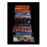 VIntage Stack of Old Books Postcard