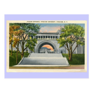 Vintage Stadium Entrance Syracuse University Postcard