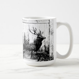 Vintage Stag Deer World's Best Dad, Father Coffee Mug