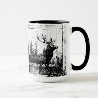 Vintage Stag Deer World's Best Step-Dad
