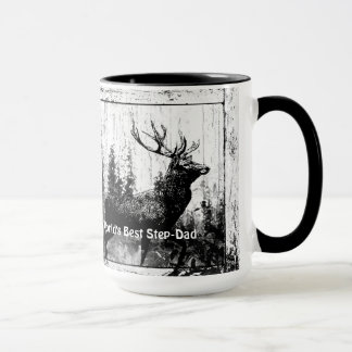 Vintage Stag Deer World's Best Step-Dad Mug