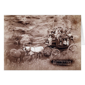 Vintage Stage Coach Card
