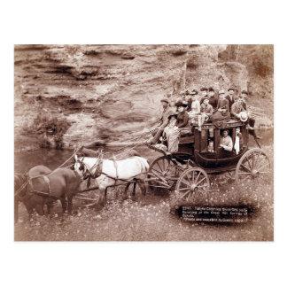Vintage Stage Coach Postcard