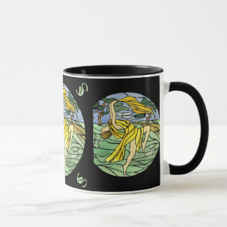 Vintage Stained Glass Dancer Mug