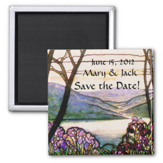 Vintage Stained Glass Save the Date Magnet