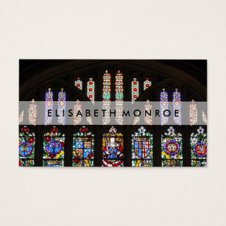 Vintage Stained Glass Window Business Card