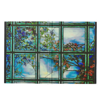 Vintage Stained Glass Window Scenic Landscape iPad Air Cases