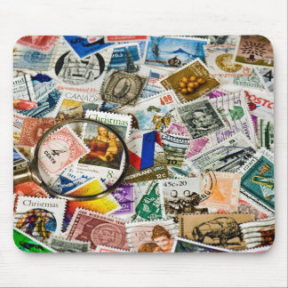 Vintage Stamp Collection Mouse Pad