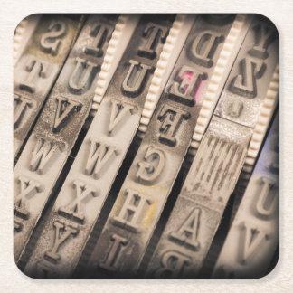 Vintage Stamp Square Paper Coaster