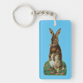Vintage Standing Bunny Keychain