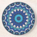 Vintage star motif  Ottoman Turkish tile design Coaster