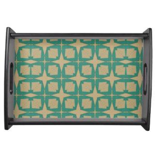 Vintage star pattern serving tray