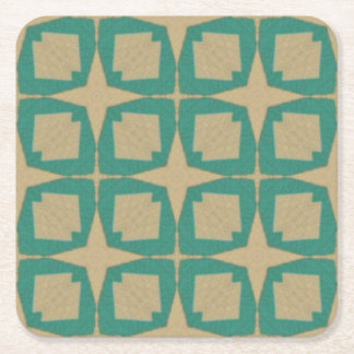 Vintage star pattern square paper coaster
