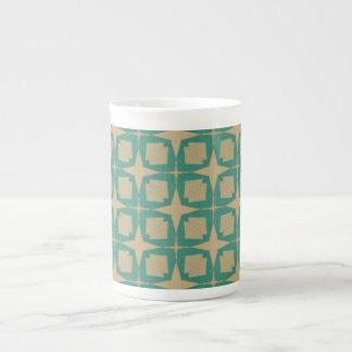 Vintage star pattern tea cup