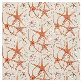 Vintage Starfish Illustration Fabric