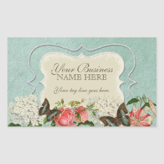 Vintage Stargazer Lily Rose Butterfly n Hydrangea Sticker