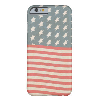 Vintage Stars and Stripes Grunge Barely There iPhone 6 Case