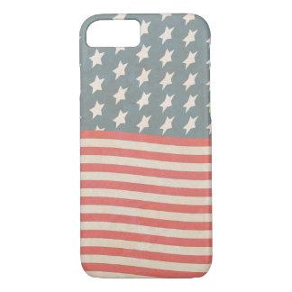 Vintage Stars and Stripes Grunge iPhone 7 Case