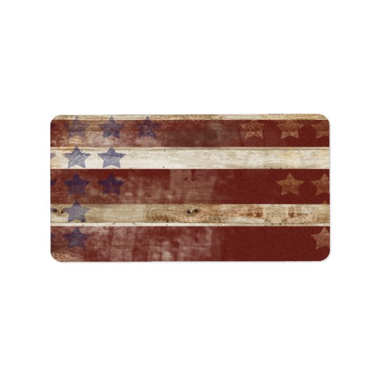 Vintage Stars And Stripes Pine Wood Pattern