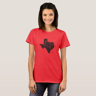 Vintage State Map Silhouette of Texas T-Shirt