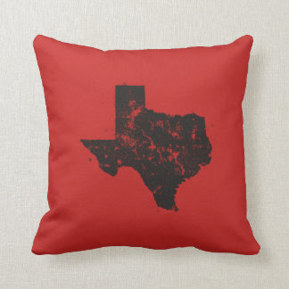 Vintage State Map Silhouette of Texas Throw Pillow
