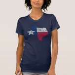 Vintage State Outline of Texas Flag Tee Shirts