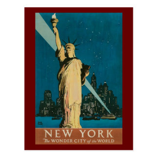 Vintage Statue of Liberty Postcard
