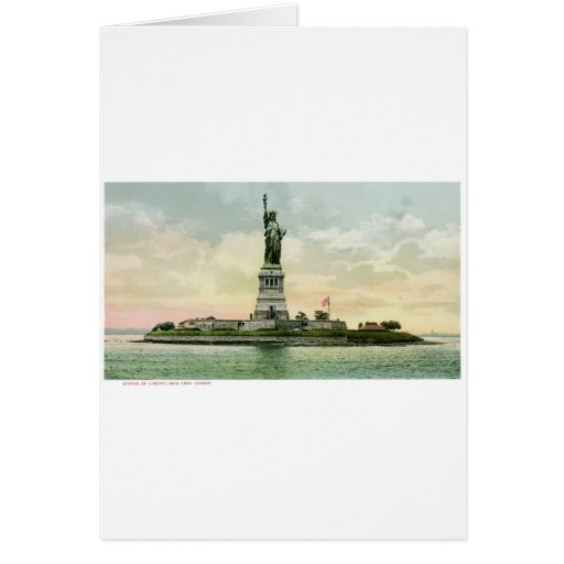 """Vintage """"Statue of Liberty"""" Poster. New York. Greeting Card"""
