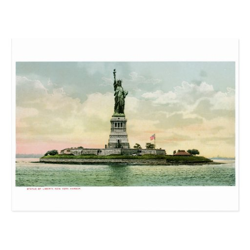 "Vintage ""Statue of Liberty"" Poster. New York. Postcards"