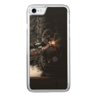 Vintage Steam Engine Black Locomotive Train Carved iPhone 7 Case