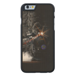 Vintage Steam Engine Black Locomotive Train Carved® Maple iPhone 6 Case