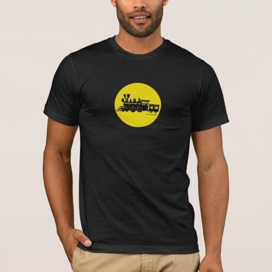Vintage steam engine locomotive graphic t-shirt