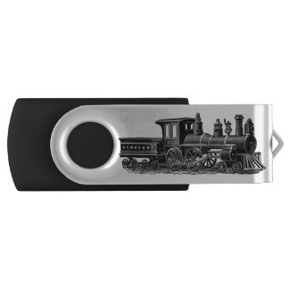 Vintage Steam Engine Swivel USB 3.0 Flash Drive