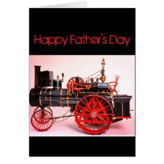 VINTAGE STEAM LOCOMOTIVE FATHER'S DAY CARD