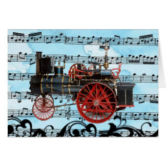 VINTAGE STEAM LOCOMOTIVE MUSICAL FATHER'S DAY CARD